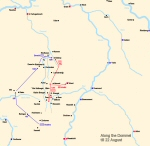 Map of Boufflers' march to Eindhoven
